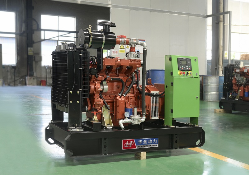 一台潍坊燃气发电设备经测试检验合格已于5月16日发往河北省